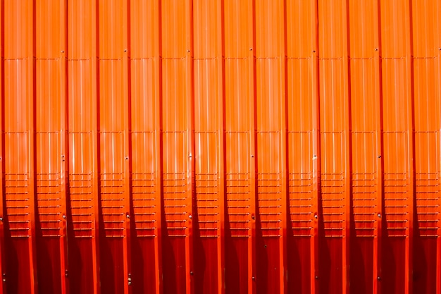 Red metal sheet pattern and vertical line design