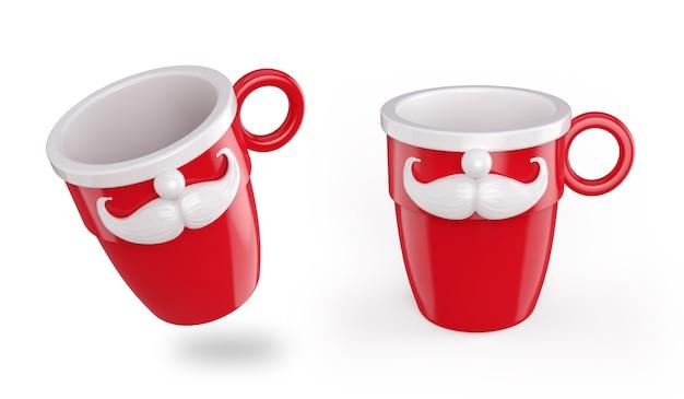 Дизайн красной кружки на рождество
