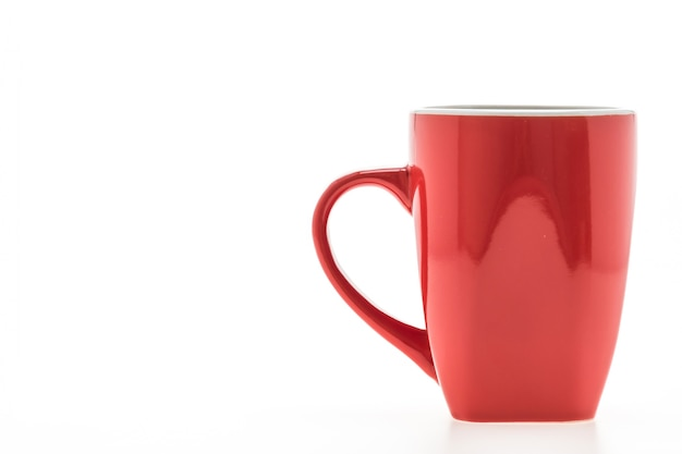Red mug with reflections