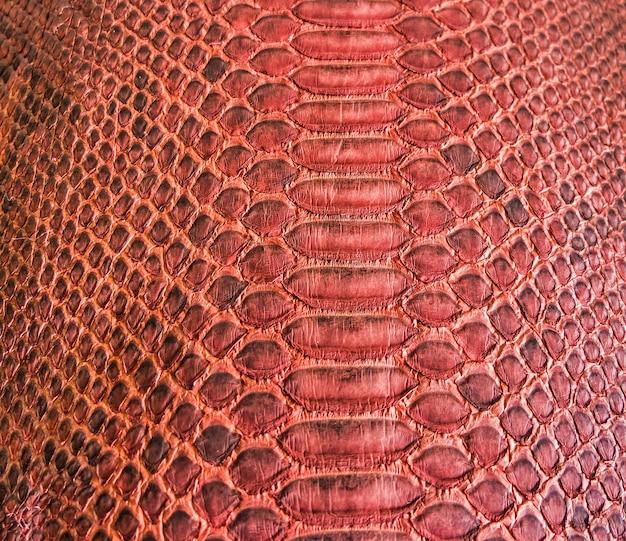 Красный дизайн текстуры кожи наке