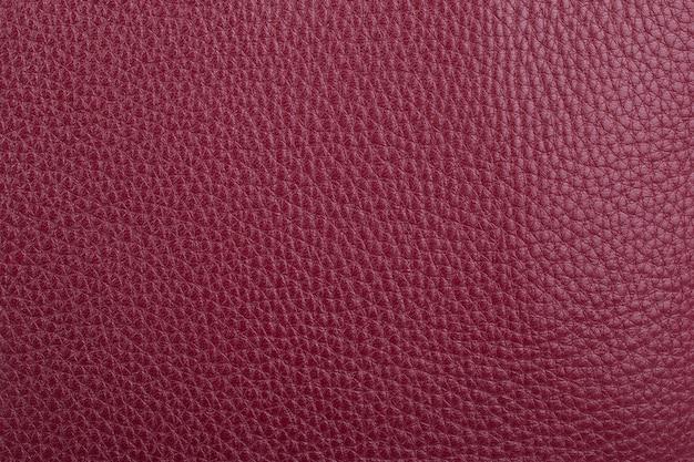 赤い天然皮革テクスチャ背景