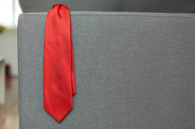 Red necktie for father's day