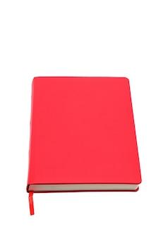 Красный блокнот изолирован