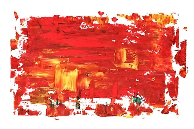 ブラシストロークで赤い油絵のテクスチャ。鮮やかな抽象的な背景