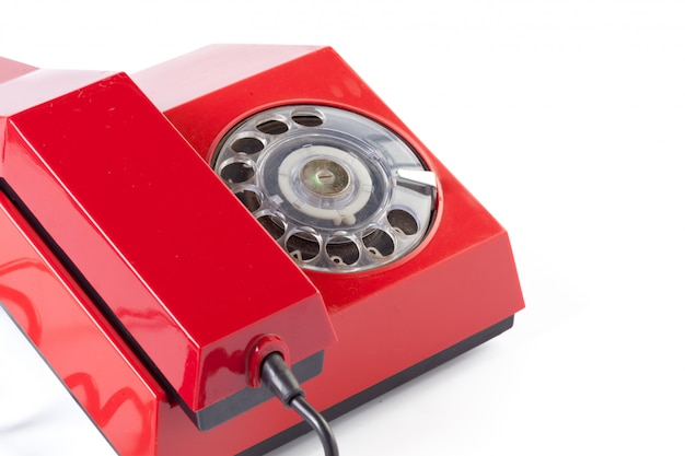 Red old telephone