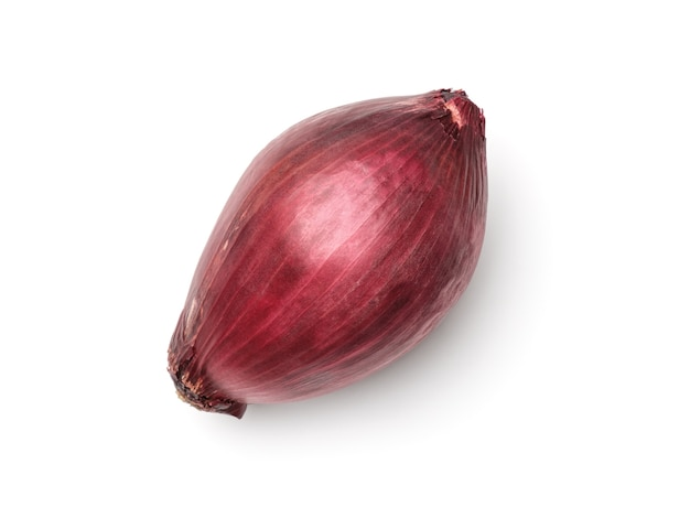 Red onion isolated. top view. flat lay