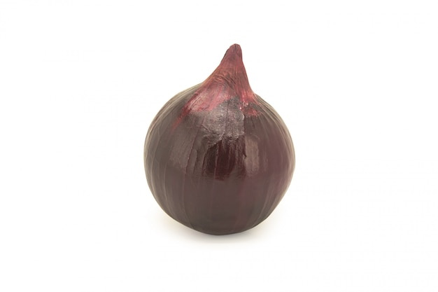 Red onion isolated on white.
