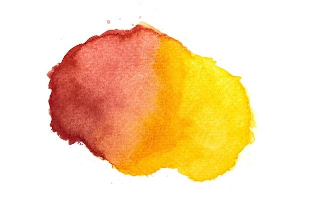 Красный оранжевый и желтый акварельный фон