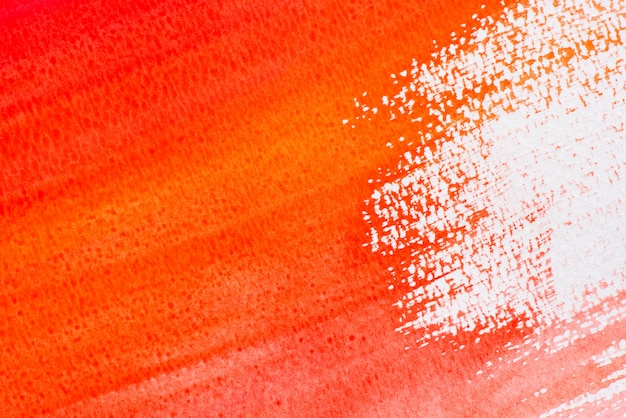 Red or orange art painting on paper texture background
