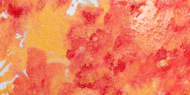 Red and orange painting mix