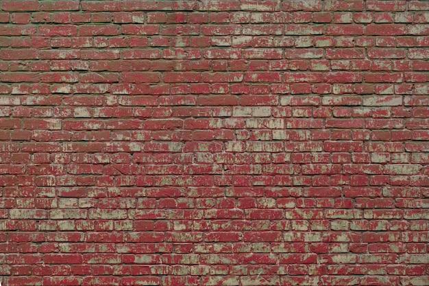 붉은 페인트 세 grunge 벽돌 벽 질감 배경