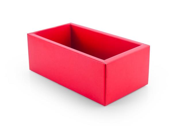흰색 절연 빨간 종이 상자