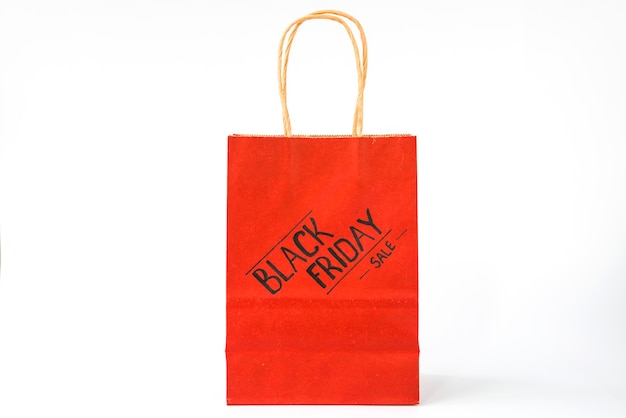 Red paper shopping package