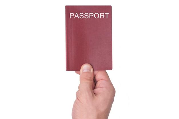남자의 손에 빨간 여권