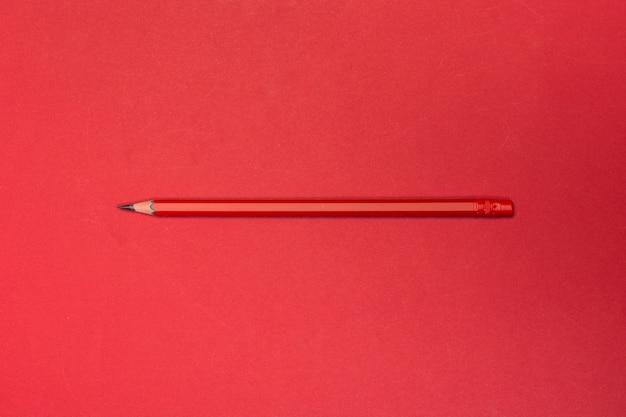 Red pencil photo mockup