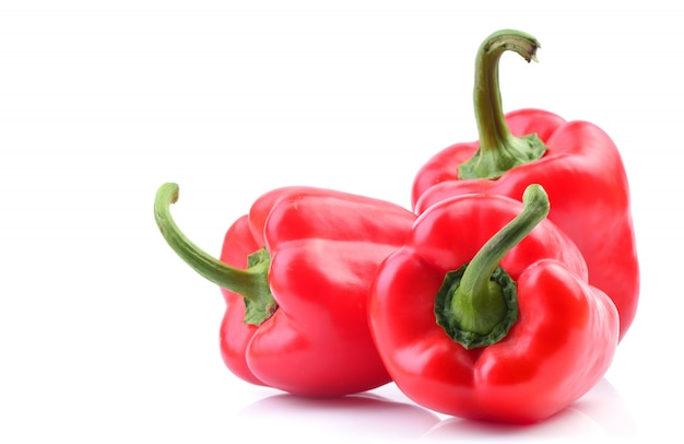 Red pepper on a white isolated