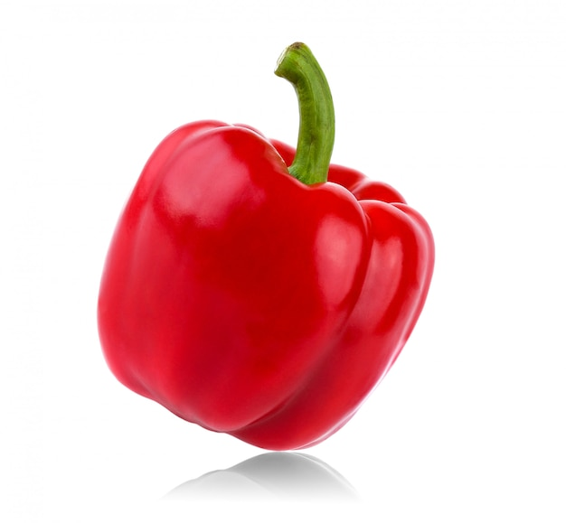Red pepper on white
