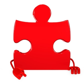 Красный кусок позирует с пустой плакат