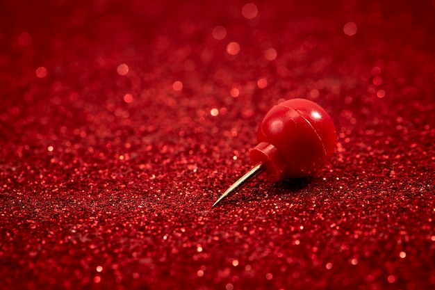 Red pin glitter for background