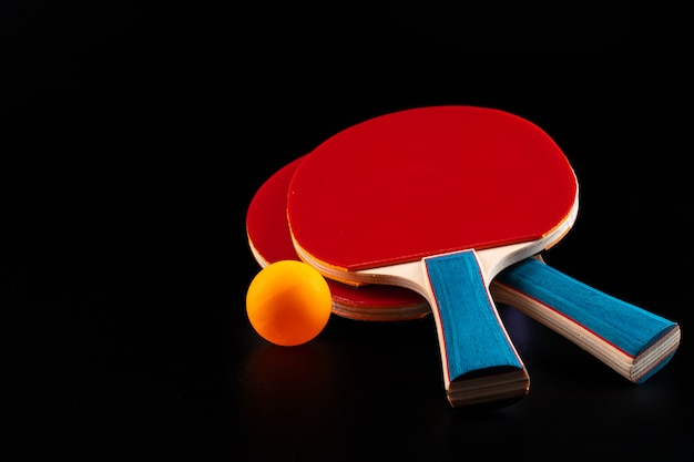 Red ping pong racket. sports equipment
