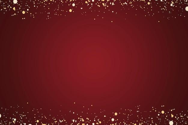 ゴールドのキラキラと赤い無地の背景