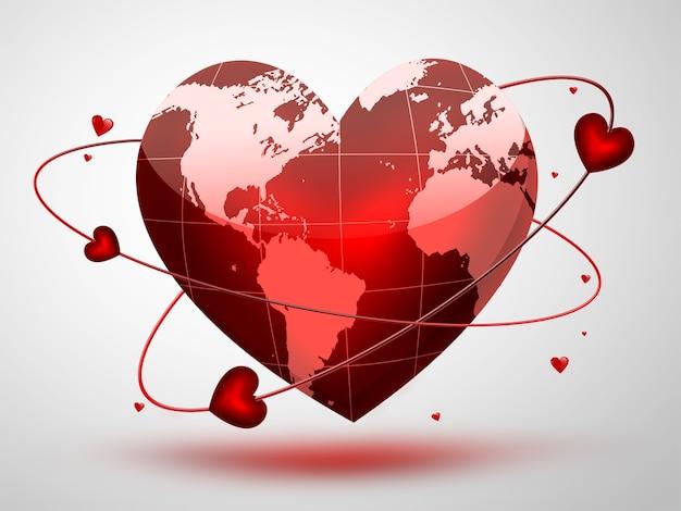 Красная планета в форме сердца