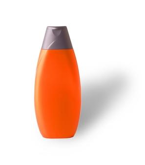 Красная пластиковая бутылка с резным шампунем для мужчин