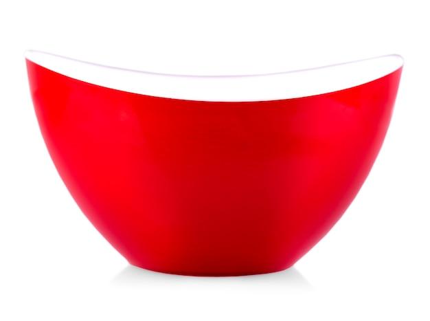 Красная тарелка на белом