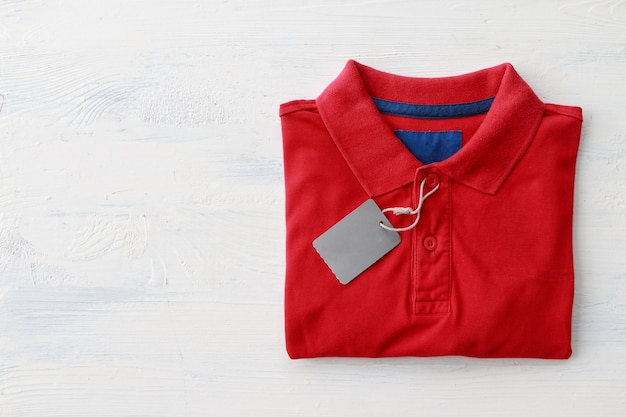 Red polo shirt Premium Photo