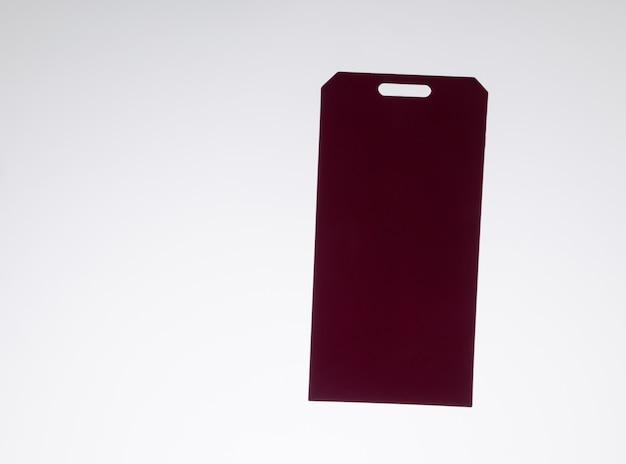 Красный ценник, изолированные на белом фоне