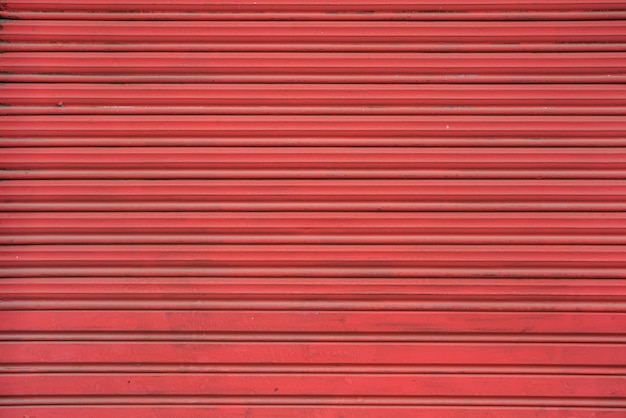 Red profiled sheeting