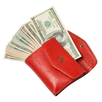 お金と赤い財布