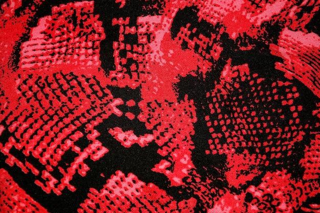 Красный питон змея животное печать холст текстура или фон
