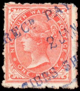 Red queen victoria stamp