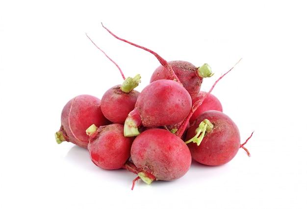 Red radish isolated