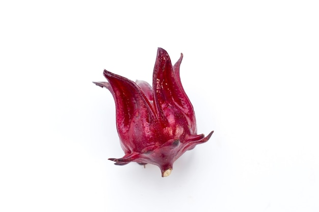 Red raselle is a thai herb and used as a natural colorant which can dissolved in water