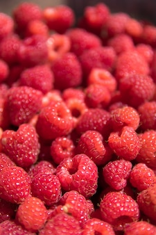 Red raspberry texture or background.