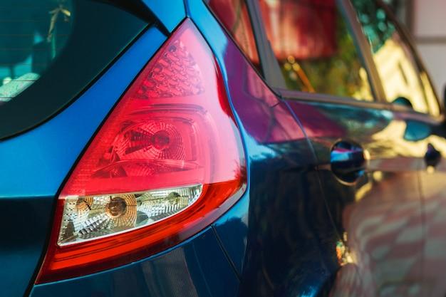 Red rear vehicle headlamp
