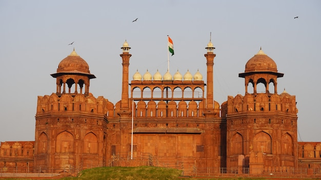 Red red fort in delhi image