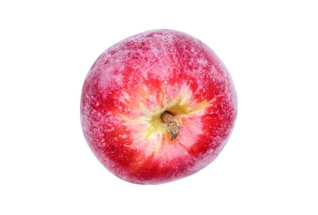 白い背景で隔離の赤い熟したリンゴ