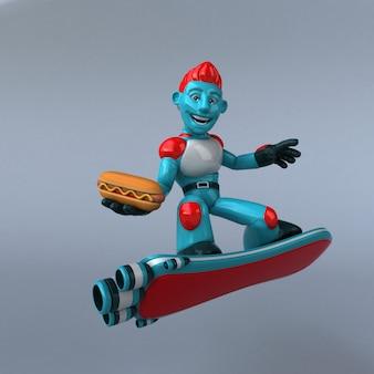 Красный робот - 3d персонаж