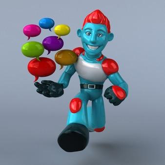 레드 로봇-3d 캐릭터