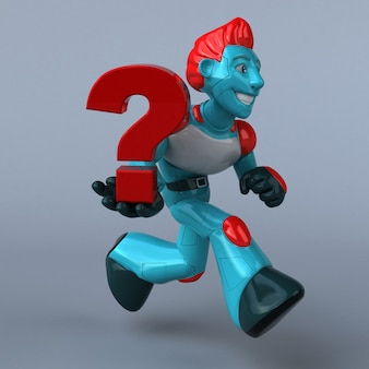 Red robot - 3d character