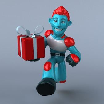赤いロボット3 dイラスト