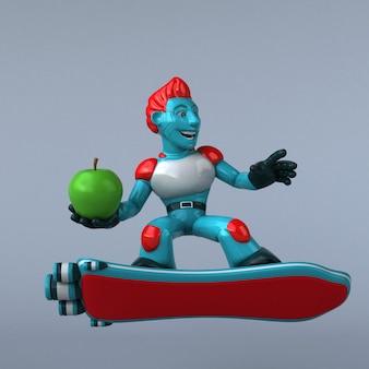 Красный робот - 3d иллюстрации