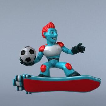 Red robot - 3d illustration