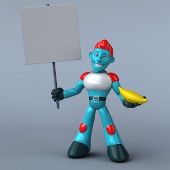레드 로봇 -3d 일러스트