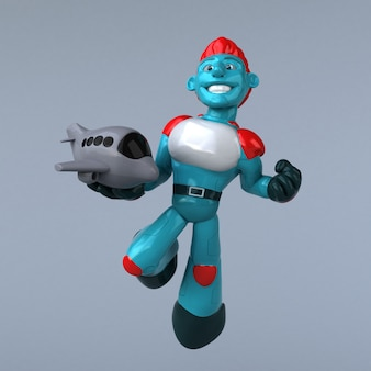 赤いロボットのアニメーション