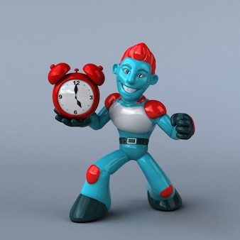 Красный робот иллюстрация