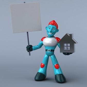 Red robot illustration